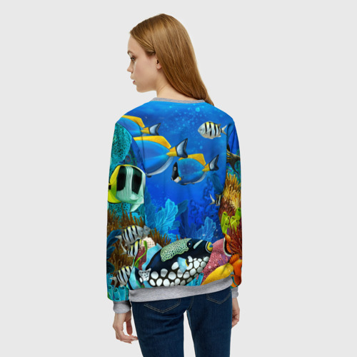 Женский свитшот 3D Экзотические рыбки Фото 01