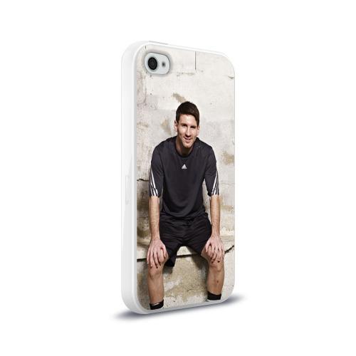 Чехол для Apple iPhone 4/4S силиконовый глянцевый Месси Фото 01