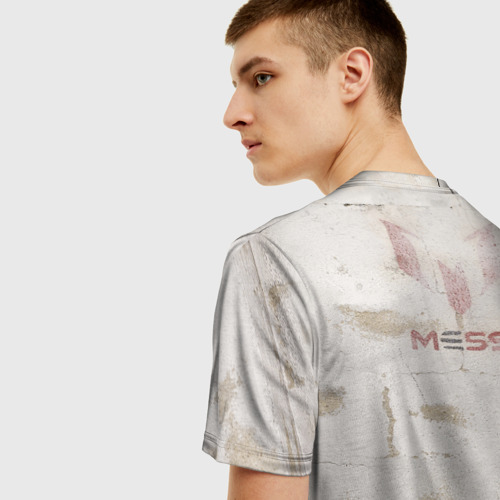 Мужская футболка 3D Месси Фото 01