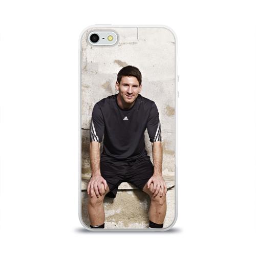 Чехол для Apple iPhone 5/5S силиконовый глянцевый Месси Фото 01