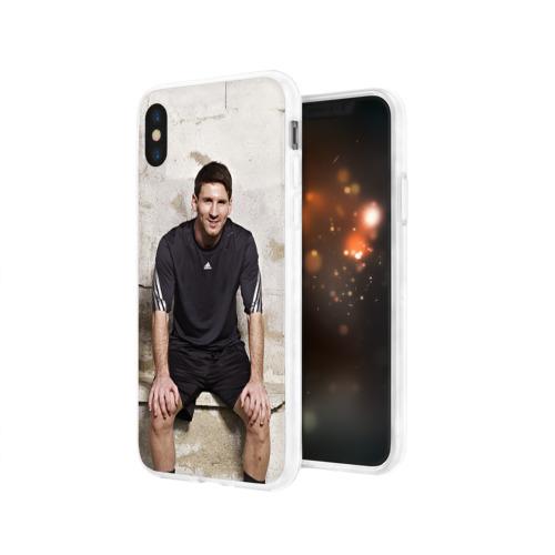 Чехол для Apple iPhone X силиконовый глянцевый Месси Фото 01