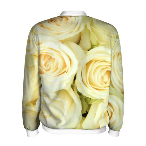 Мужской бомбер 3D  Фото 02, Белые розы