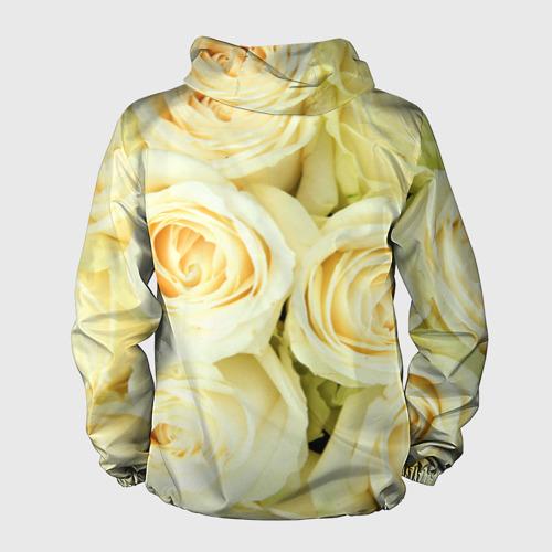 Мужская ветровка 3D  Фото 02, Белые розы