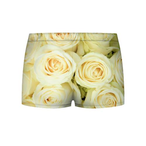 Мужские трусы 3D  Фото 02, Белые розы