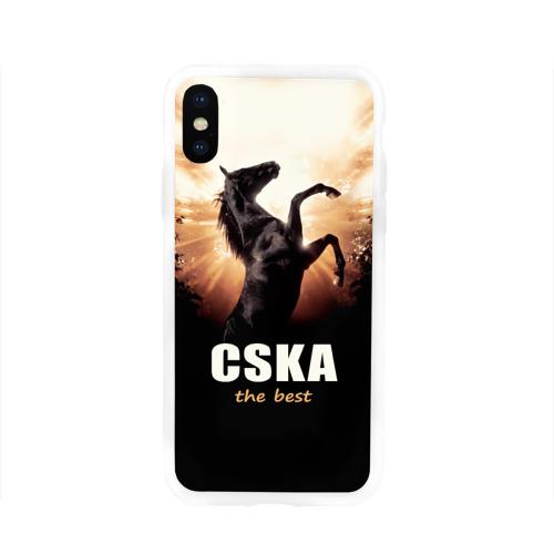 Чехол для Apple iPhone X силиконовый глянцевый CSKA the best