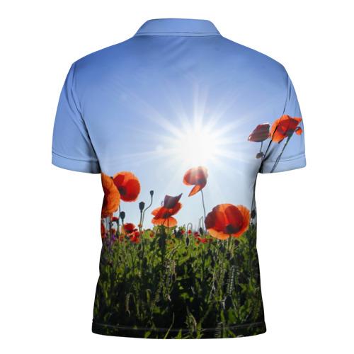 Мужская рубашка поло 3D  Фото 02, Маки 5