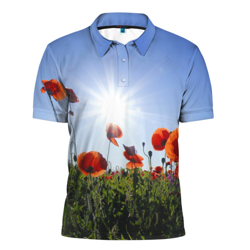 Мужская рубашка поло 3D  Фото 01, Маки 5