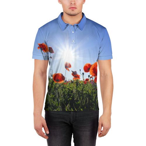 Мужская рубашка поло 3D  Фото 03, Маки 5