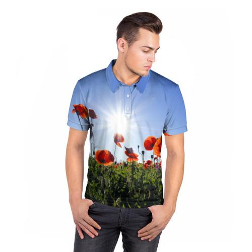 Мужская рубашка поло 3D  Фото 05, Маки 5