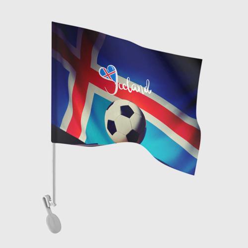 Флаг для автомобиля Исландия