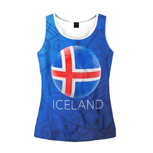 Женская майка 3D Исландия
