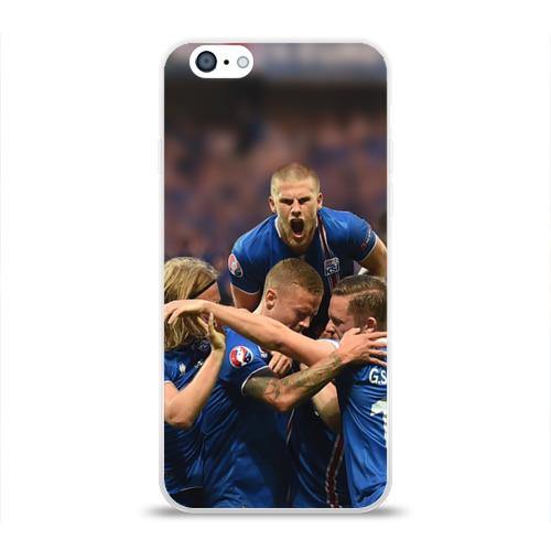 Чехол для Apple iPhone 6 силиконовый глянцевый  Фото 01, Сборная Исландии по футболу