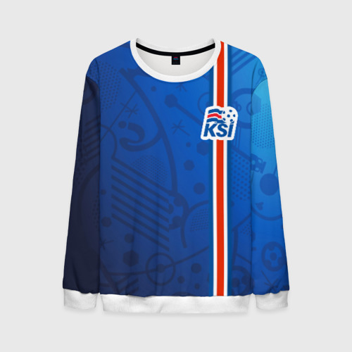 Мужской свитшот 3D Форма сборной Исландии по футболу Фото 01
