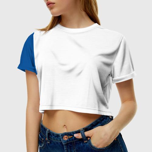 Женская футболка 3D укороченная Форма сборной Исландии по футболу