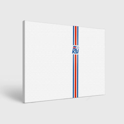Холст прямоугольный Форма сборной Исландии по футболу Фото 01