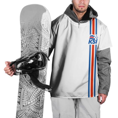 Накидка на куртку 3D Форма сборной Исландии по футболу Фото 01
