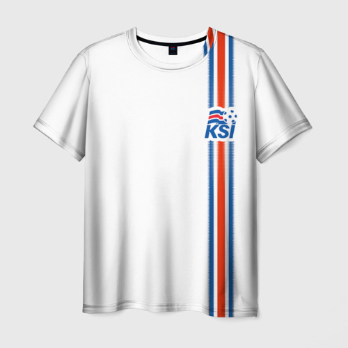 Мужская футболка 3D Форма сборной Исландии по футболу Фото 01