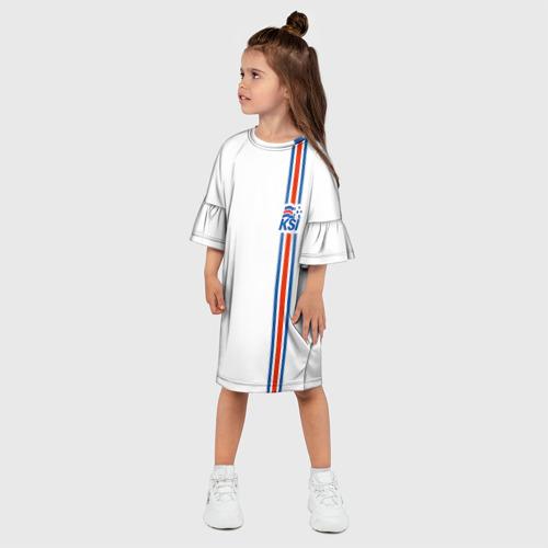Детское платье 3D Форма сборной Исландии по футболу Фото 01