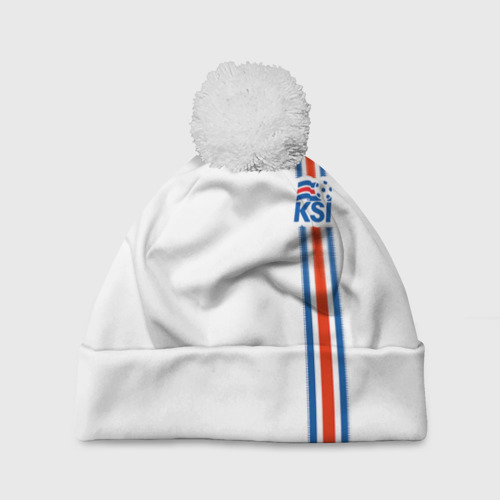 Шапка 3D c помпоном Форма сборной Исландии по футболу Фото 01