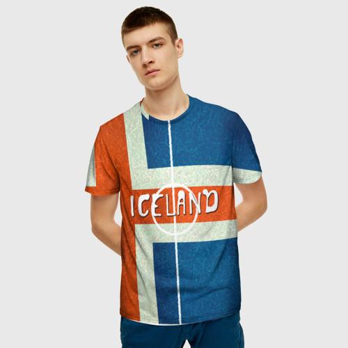 Мужская футболка 3D Исландия Фото 01