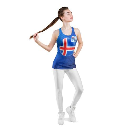 Женская майка 3D спортивная  Фото 05, Исландия
