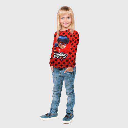 Детский лонгслив 3D  Фото 04, Леди баг и супер Кот