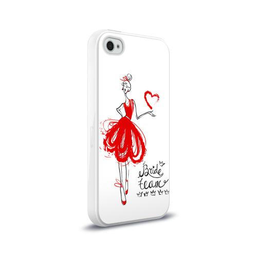 Чехол для Apple iPhone 4/4S силиконовый глянцевый  Фото 02, Bride team