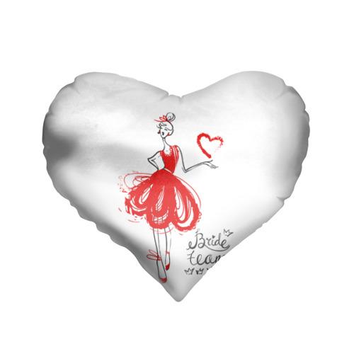 Подушка 3D сердце  Фото 01, Bride team