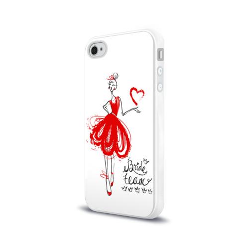 Чехол для Apple iPhone 4/4S силиконовый глянцевый  Фото 03, Bride team