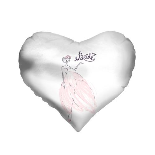 Подушка 3D сердце  Фото 01, Bride 2