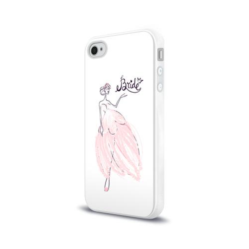 Чехол для Apple iPhone 4/4S силиконовый глянцевый  Фото 03, Bride 2