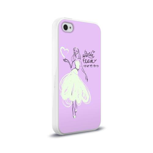 Чехол для Apple iPhone 4/4S силиконовый глянцевый  Фото 02, Bride team 3