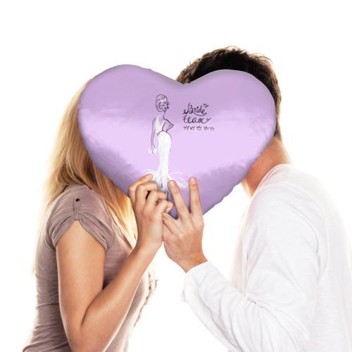 Подушка 3D сердце  Фото 03, Bride team 6