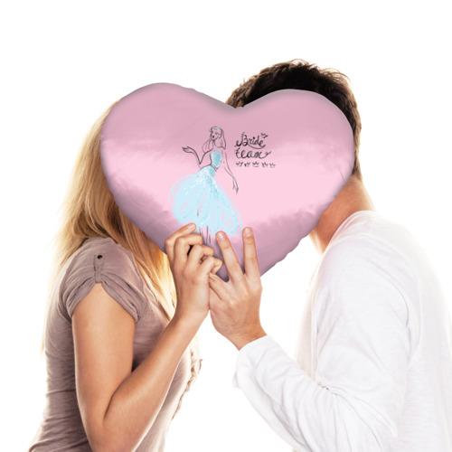 Подушка 3D сердце  Фото 03, Bride team 7