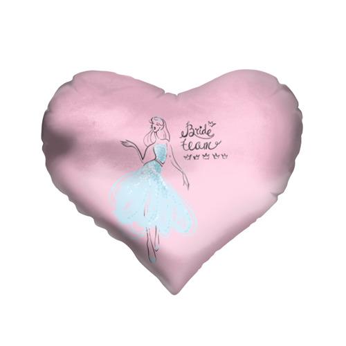 Подушка 3D сердце  Фото 01, Bride team 7