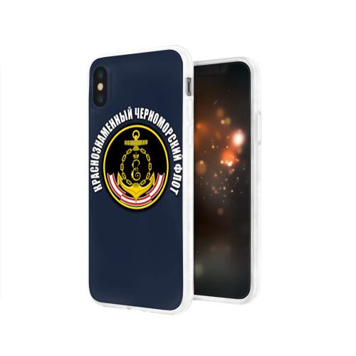Чехол для Apple iPhone X силиконовый глянцевый  Фото 03, Краснознамен черноморский флот