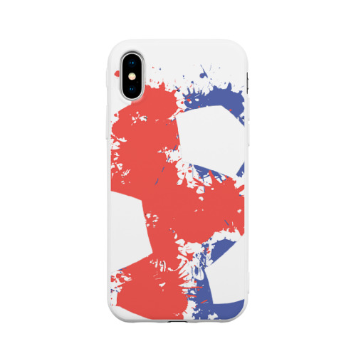Чехол для Apple iPhone X силиконовый матовый Сборная Исландии