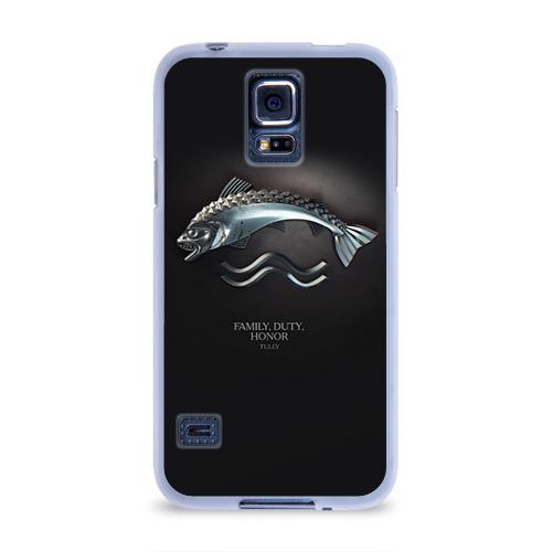 Чехол для Samsung Galaxy S5 силиконовый  Фото 01, Игра Престолов Герб 13