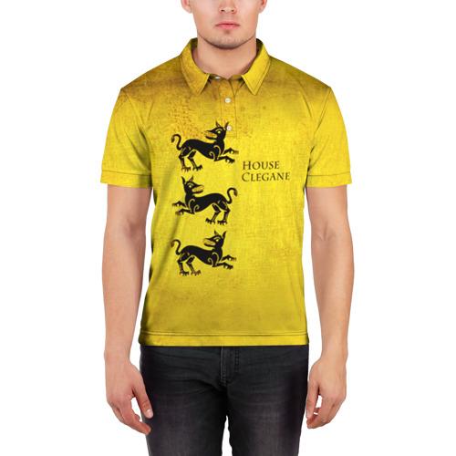 Мужская рубашка поло 3D  Фото 03, Игра Престолов Герб 19
