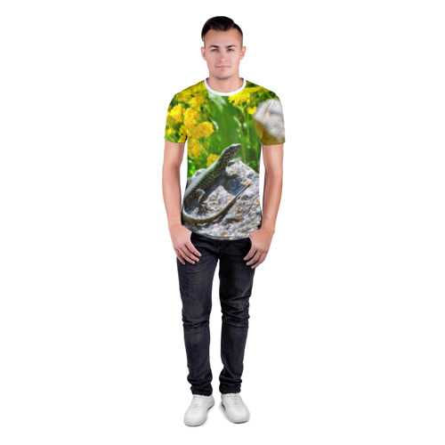 Мужская футболка 3D спортивная  Фото 04, Ящерица
