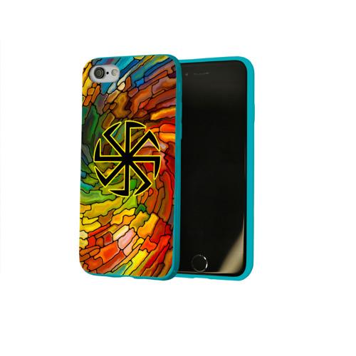 Чехол для Apple iPhone 8 силиконовый глянцевый Круговорот жизни Фото 01