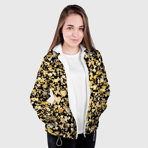 Женская куртка 3D  Фото 04, Золотые сердца