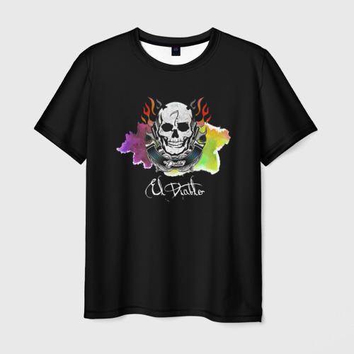 Мужская футболка 3D  Фото 03, El Diablo