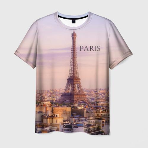 Мужская футболка 3D Париж Фото 01