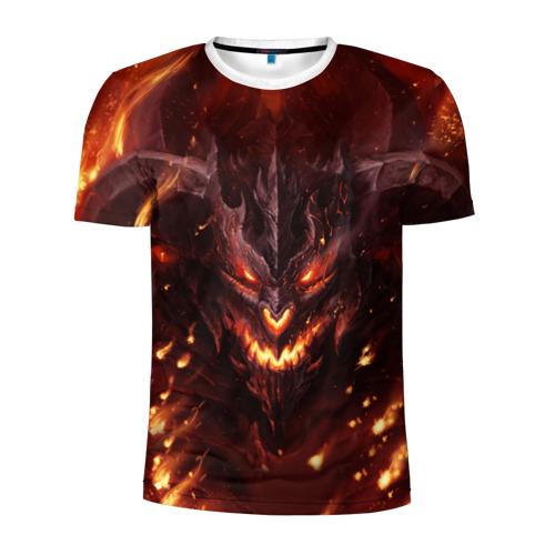 Мужская футболка 3D спортивная  Фото 01, Дьявол