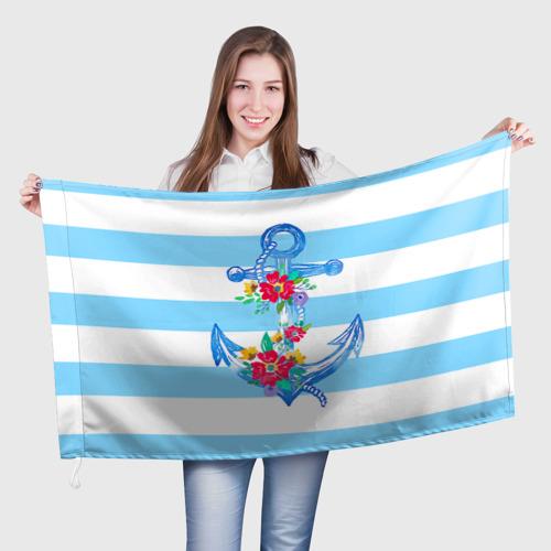 Флаг 3D Якорь Фото 01