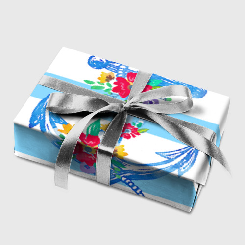 Бумага для упаковки 3D Якорь Фото 01