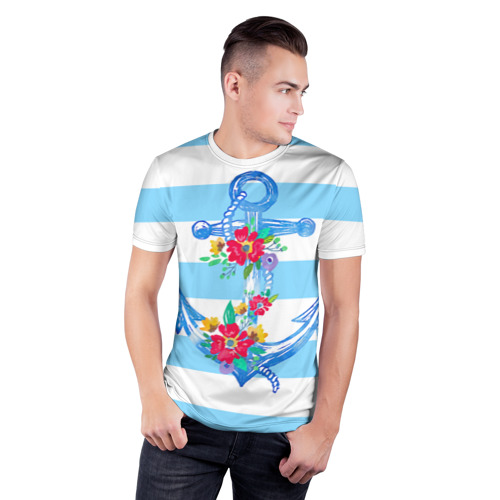 Мужская футболка 3D спортивная Якорь Фото 01