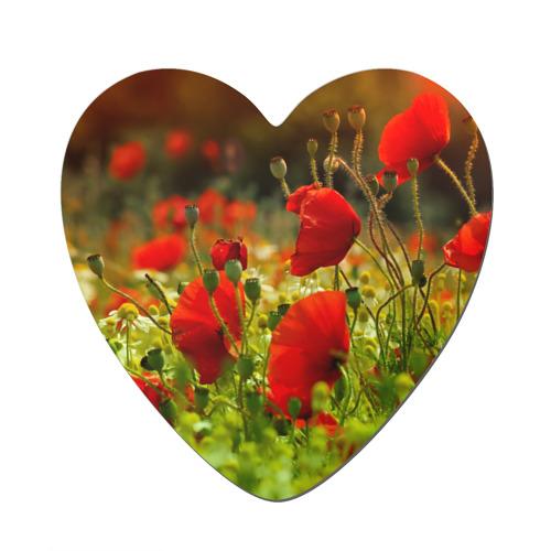 Магнит виниловый сердце  Фото 01, Маки