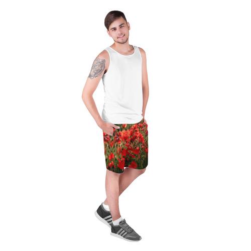 Мужские шорты 3D  Фото 03, Маки